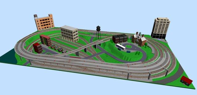 dcc wiring diagram phone socket uk metro-style ho layout with a subway station