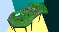Model Railroad Design for a Corner Layout in HO