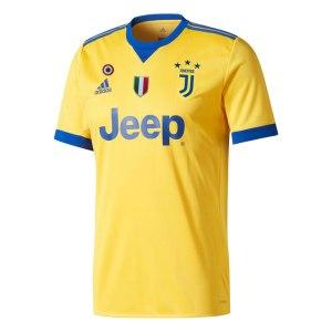 adidas - Juventus Maglia Ufficiale Gialla 2017-18 + Scudetto + Coppa Italia