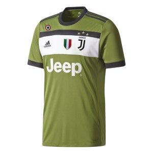 adidas - Juventus Maglia Ufficiale Verde 2017-18 + Scudetto + Coccarda Coppa Italia