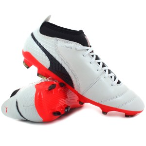 Puma - ONE 17.2 FG White / Black / Coral