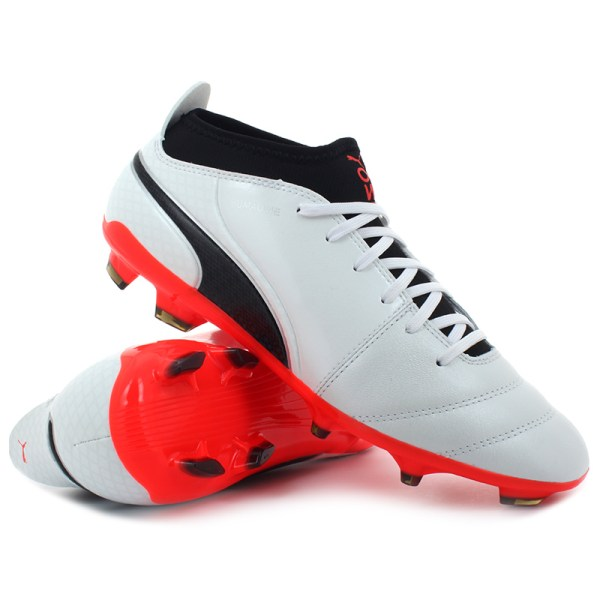 Puma - ONE 17.3 FG White / Black / Coral