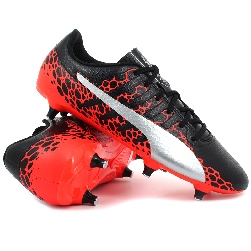 Puma - evoPOWER Vigor 4 GRAPHIC SG Black / Fiery Coral