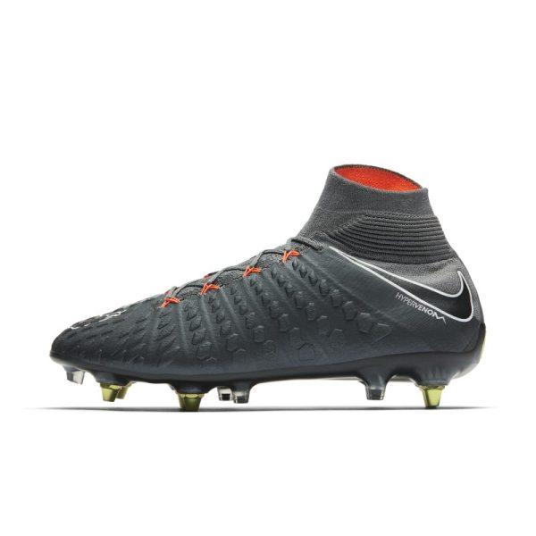 Scarpa da calcio per terreni morbidi Nike Hypervenom Phantom III Elite Dynamic Fit Anti-Clog SG-PRO - Grigio