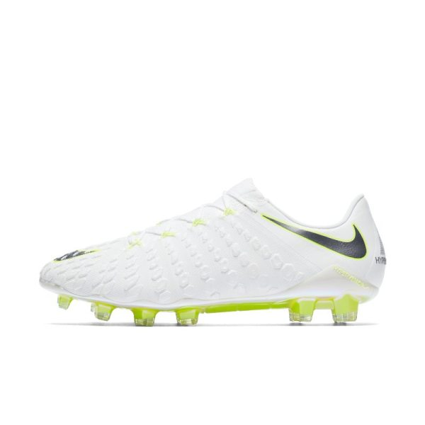 Scarpa da calcio per terreni duri Nike Hypervenom III Elite Just Do It - Bianco