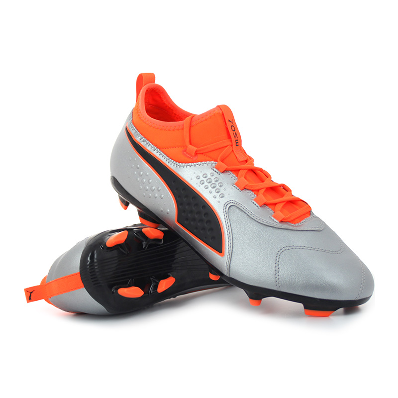 Puma - ONE 3 Lth FG / AG Shocking Orange Uprising Pack