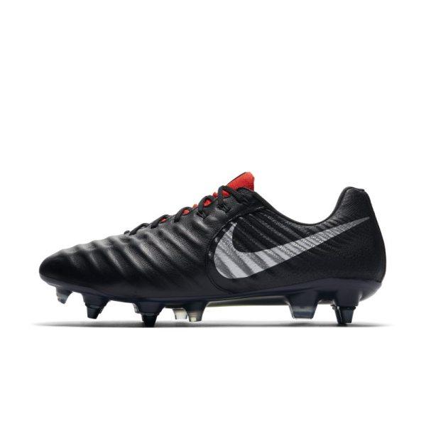 Scarpa da calcio per terreni morbidi Nike Tiempo Legend VII Elite SG-Pro Anti-Clog - Nero
