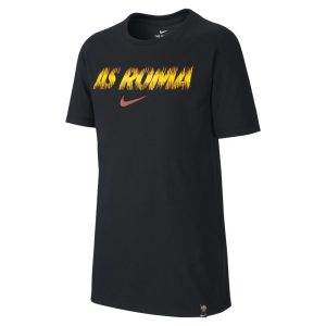 T-shirt da calcio Nike Dri-FIT A.S. Roma - Ragazzi - Nero