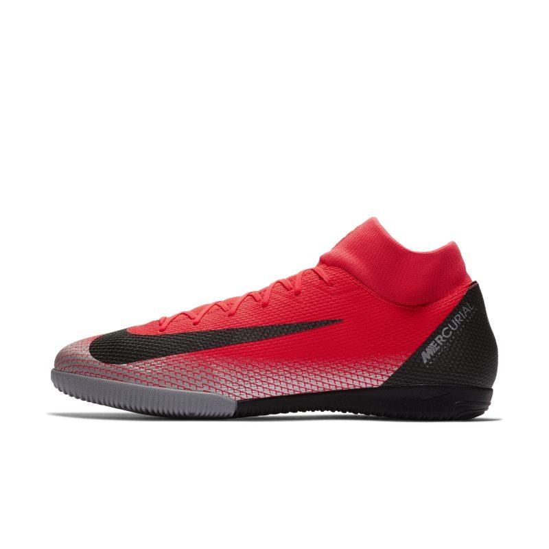 Scarpa da calcio per campi indoor Nike MercurialX Superfly VI Academy CR7 IC - Red