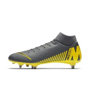 Scarpa da calcio per terreni morbidi Nike Mercurial Superfly VI Academy SG-PRO - Grigio