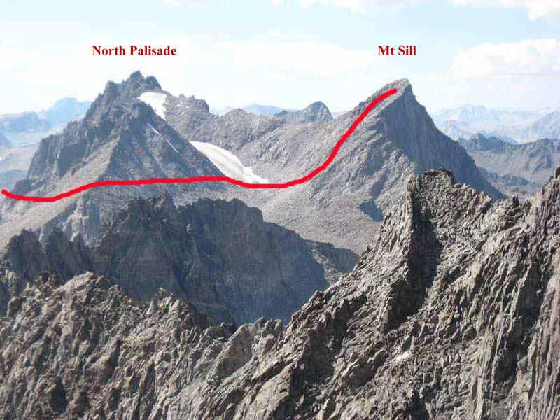 Hiking up Mt Sill