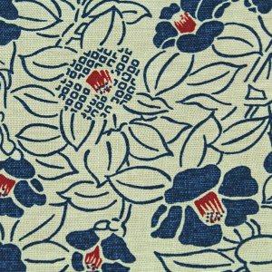 Japanisch blau creme gemustertes Gästebuch