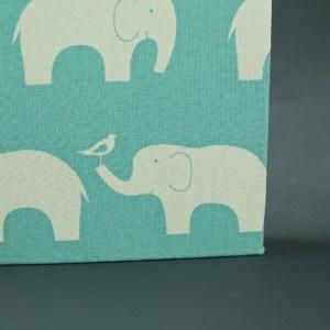Kleines Baby Fotoalbum Türkis Elefanten