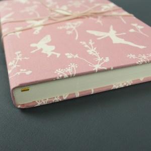 Tagebuch romantisch rosa weiß Elfen