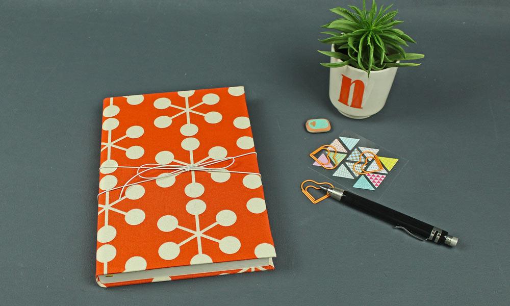 Ewiger Kalender Tagebuch orange Retro