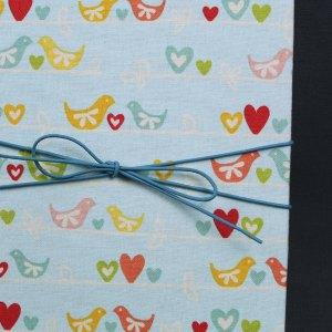 Babytagebuch türkis pastell kleine Vögel
