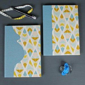 Babytagebuch und Schwangerschaftstagebuch blau gold grafisch