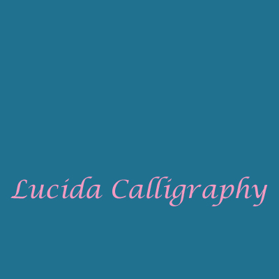 Schriftart-Lucida-Calligraphy