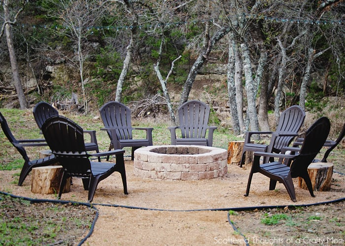 how to build a diy fire pit scattered