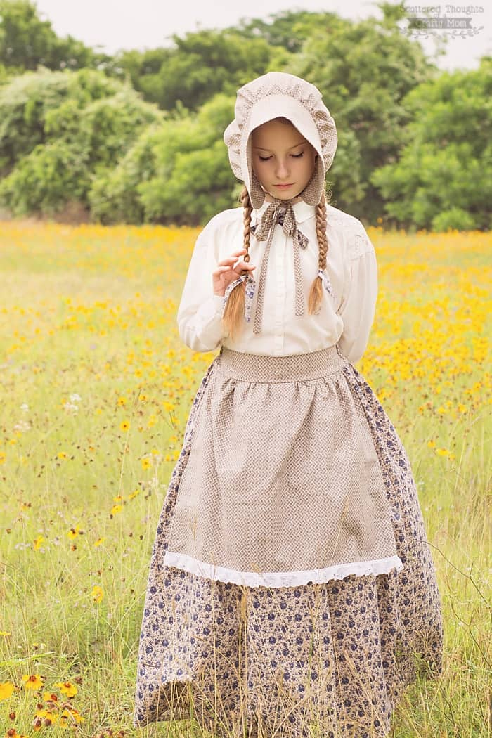 Little House On The Prairie Costume And Bonnet Tutorial