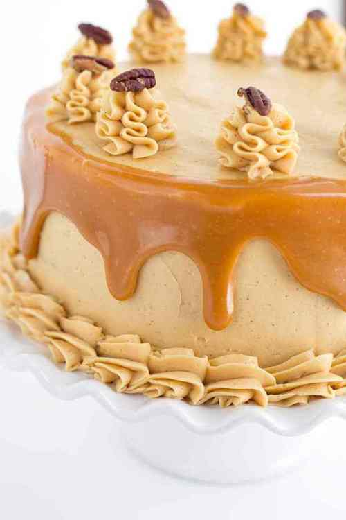 Carrot Cake with Caramel Frosting