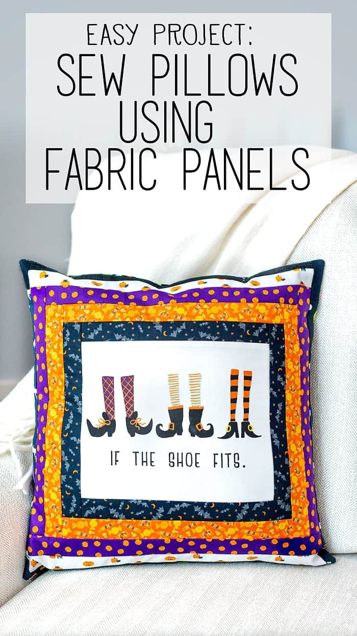 sewing pillows with fabric panels