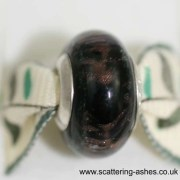 Pandora Style Memorial Charm Bead: Black Stardust