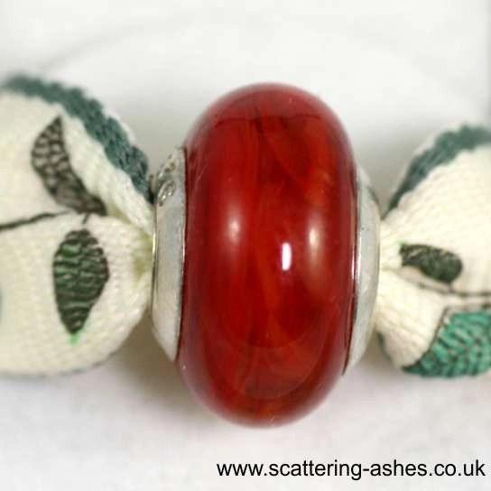 Pandora Style Memorial Charm Bead: Red
