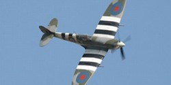 cremation ashes scattered in lent spitfire