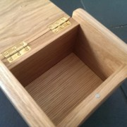 Jewellery Box Urn with hidden compartment for ashes