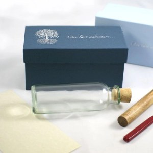 cremation ashes in a bottle meassget