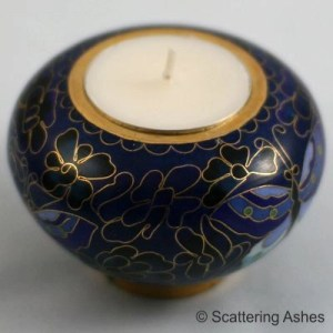 Memorial Candle Holder: Blue Butterfly