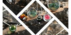 Unique Memorial Glass and Silver Jewellery Handmade in Dartmoor, Devon