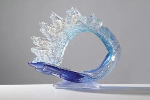 Memorial Glass Tropical Ocean Wave