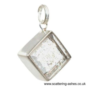 ashes into glass silver charm
