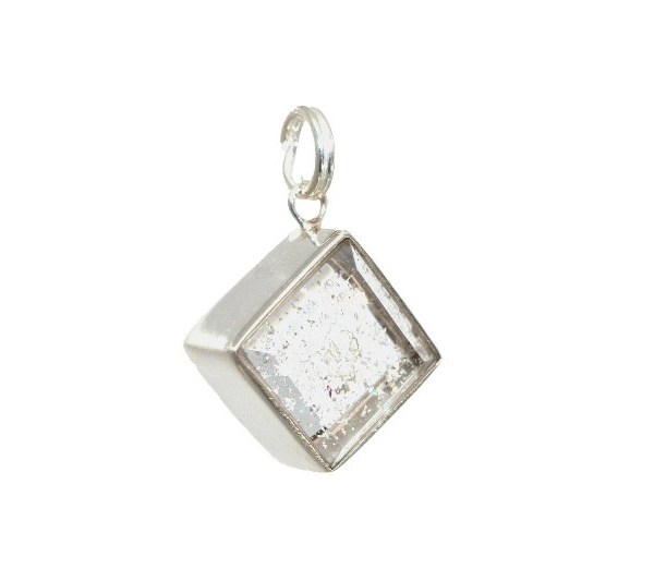 ashes into glass memorial jewellery silver