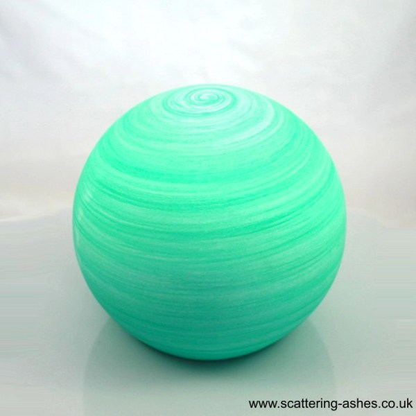 Natural floating ball urn