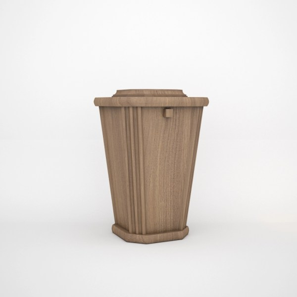 Cremation Niche Wooden Urn - Oak