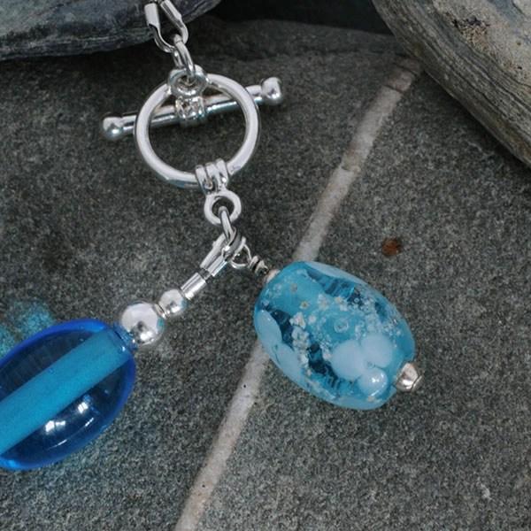 Memorial Glass Bead Bracelet in Aqua