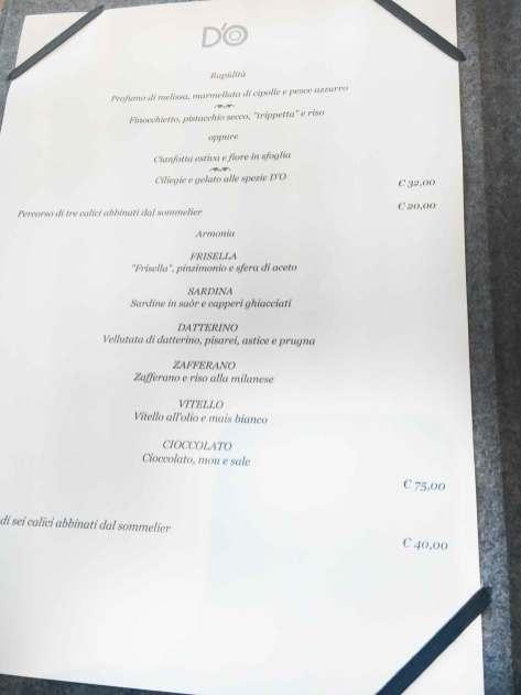 Ristoranti a Milano Menu e prezzi del nuovo DO di Davide