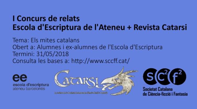 En marxa un concurs de relats organitzat conjuntament amb l'Escola d'Escriptura de l'Ateneu Barcelonès!