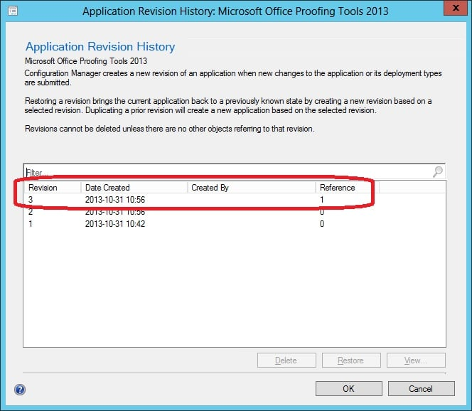 Dependancy problem when deleting an Application in ConfigMgr