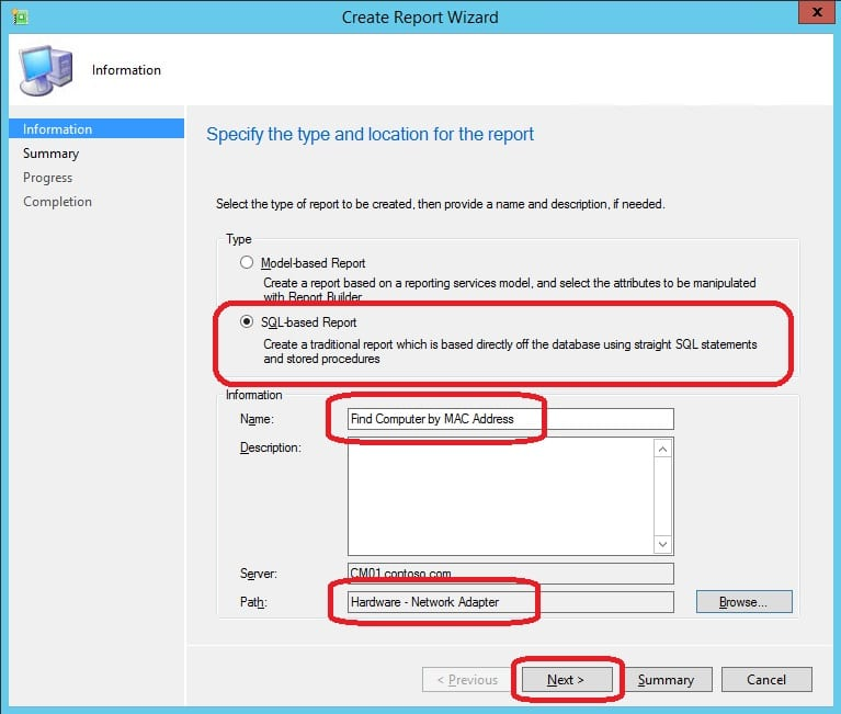 Create a Custom Report with Parameters for ConfigMgr 2012