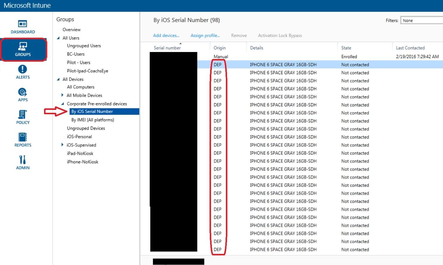 Configure integration between Apple DEP and Microsoft Intune
