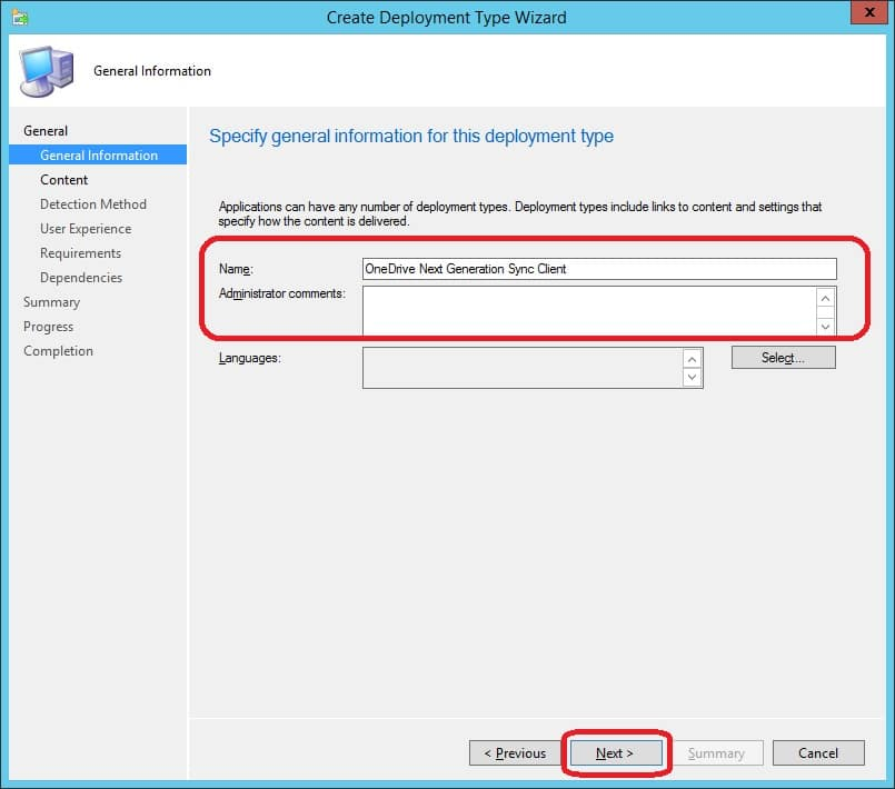 Deploy OneDrive Next Generation sync client with ConfigMgr