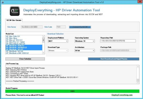 HP Driver Automation Tool | | System Center ConfigMgr