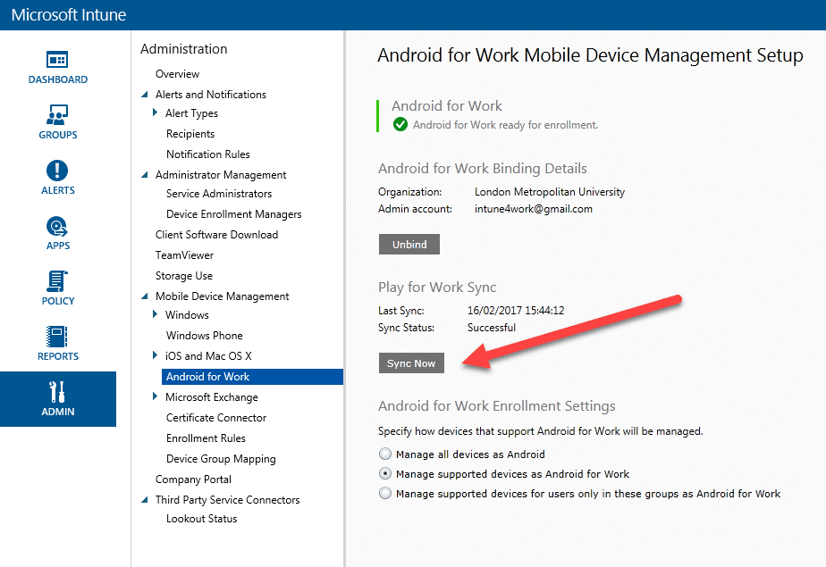 Walk Through Series: Intune MDM / Android for Work : Part 3