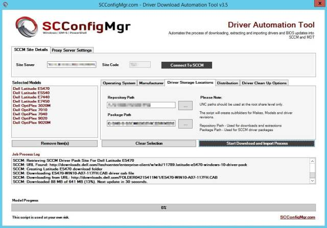 Driver Automation Tool | | System Center ConfigMgr