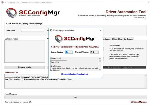 Driver Automation Tool – Version 3.4 Released