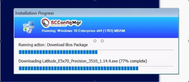 Modern BIOS Management using Web Services during OSD with ConfigMgr